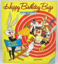 """Looney Tunes - Panini Stickers collector book 1990 \""""Happy Birthday Bugs\"""""""