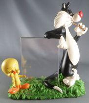 Looney Tunes - Scenette Résine Porte Photo Warner  - Titi & Sylvestre