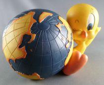 Looney Tunes - Tirelire Résine Warner  - Titi & Globe Terrestre