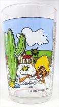 Looney Tunes - Verre à Moutarde Amora - Speedy Gonzales, Daffy Duck et le cactus