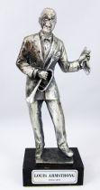 """Louis Armstrong - 6\"""" die-cast métal statue - Daviland France 1978"""