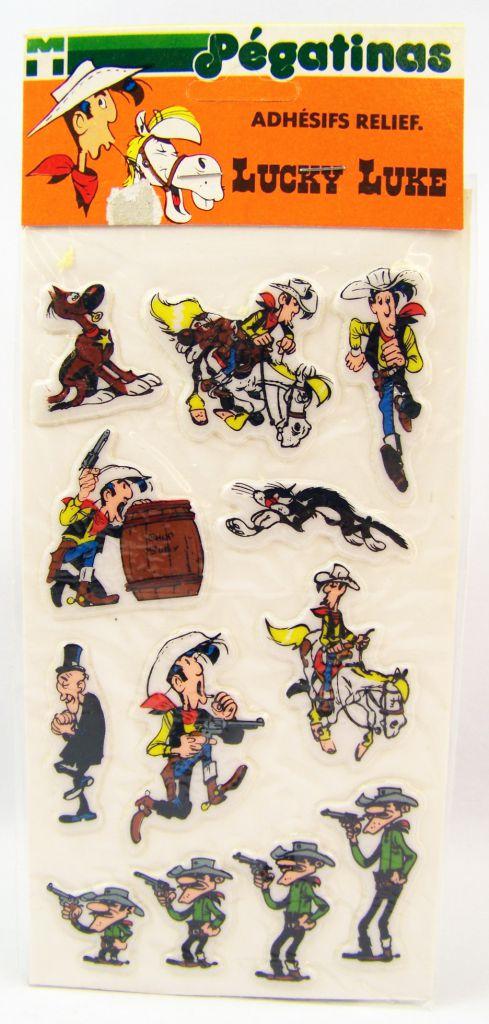 Lucky Luke -  3-D Stickers (Les Pégatinas) 1984 - Set #3