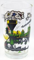 Lucky Luke - Amora Mustard Glass - Luke stops the train