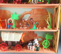 Lucky Luke - Comansi - City 3 Levels Diorama Box Covered Wagon & Stage Coach MIB Ref 715
