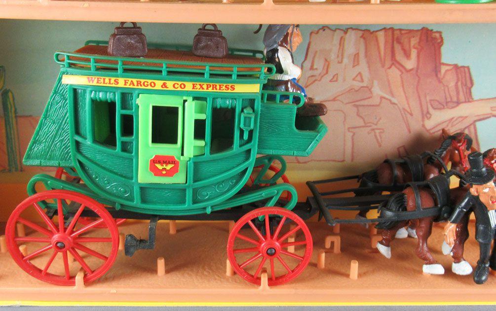Lucky Luke - Comansi - City Boite Diorama 2 étages & Diligence Neuf Réf 714