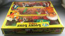 Lucky Luke - Comansi - City Boite Diorama 3 étages Chariot Bâché1 Diligence Neuf Réf 715