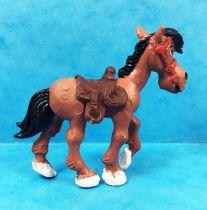 Lucky Luke - Figurine PVC Comansi - Cheval marron
