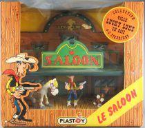 Lucky Luke - Figurine PVC Plastoy - Saloon avec Luke J. Jumper & Rantanplan Neuf Boite Réf 60809
