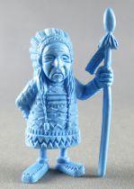 Lucky Luke - Omo Bonux 1973 - Figurine Monochrome - Chef Indien (Bleu)