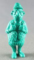 Lucky Luke - Omo Bonux 1973 - Figurine Monochrome - Employé du Télégraphe (Vert Foncé)