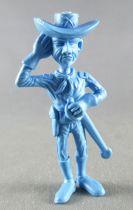Lucky Luke - Omo Bonux 1973 - Figurine Monochrome - Lieutenant Cavalerie (Bleu)
