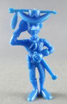 Lucky Luke - Omo Bonux 1973 - Figurine Monochrome - Lieutenant Cavalerie (Bleu Foncé)