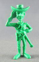 Lucky Luke - Omo Bonux 1973 - Figurine Monochrome - Lieutenant Cavalerie (Vert) 1