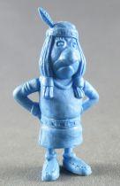 Lucky Luke - Omo Bonux 1973 - Figurine Monochrome - Petit Indien (Bleu)