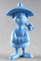 Lucky Luke - Omo Bonux 1973 - Monochromic Figure - Chinese Man (Blue)