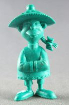 Lucky Luke - Omo Bonux 1973 - Monochromic Figure - Chinese Man (Dark Green)