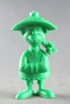 Lucky Luke - Omo Bonux 1973 - Monochromic Figure - Chinese Man (Green)