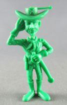 Lucky Luke - Omo Bonux 1973 - Monochromic Figure - Us Cavalry Lieutenant (Green) 2