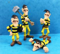 Lucky Luke - Plastoy PVC figure - The Dalton in convict outfits (Joe, Jack, William & Averell)