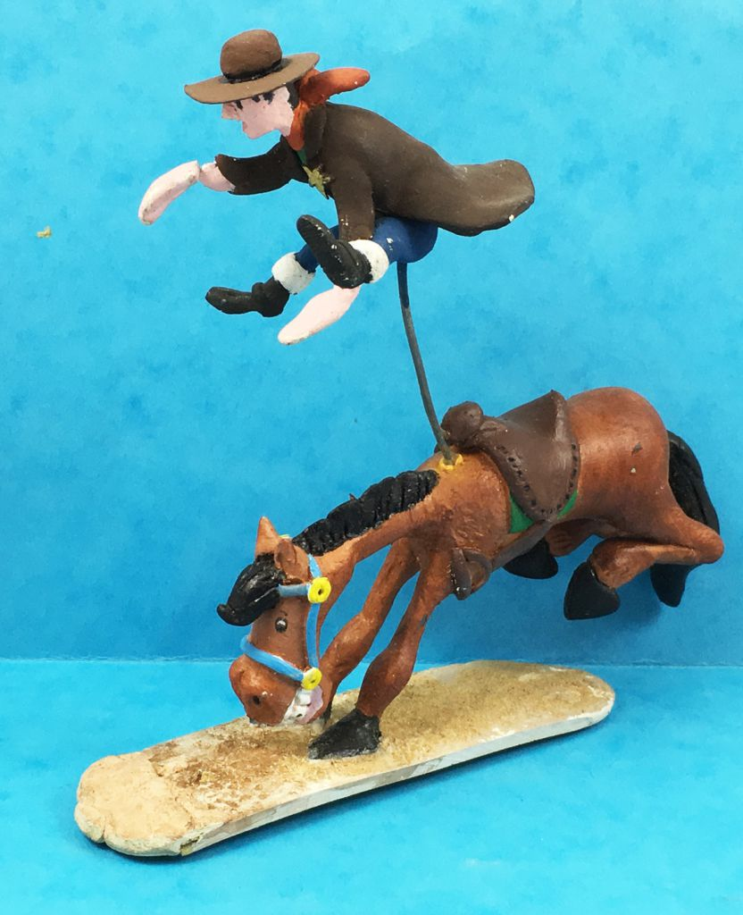 Lucky Luke - Resine Prototype - Horse ejecting a sheriff