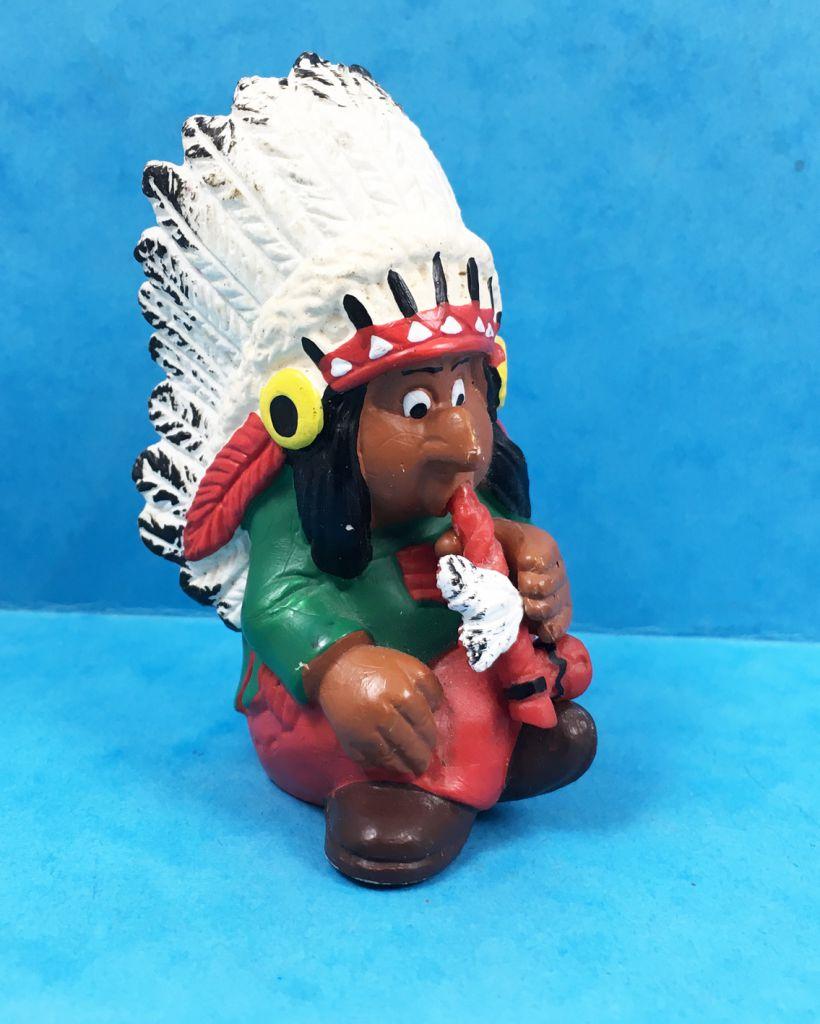 Pvc figurine lucky luke bd pa tv schleich chief indian smokes pipe