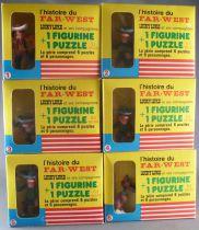 Lucky Luke - Série Complète de 6 Figurines Brabo + Puzzles - Neuf Boite