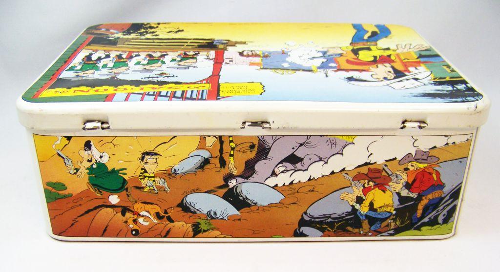 Lucky Luke - Tin Cookie Box Massily 1985 - Lucky Luke and the Dalton
