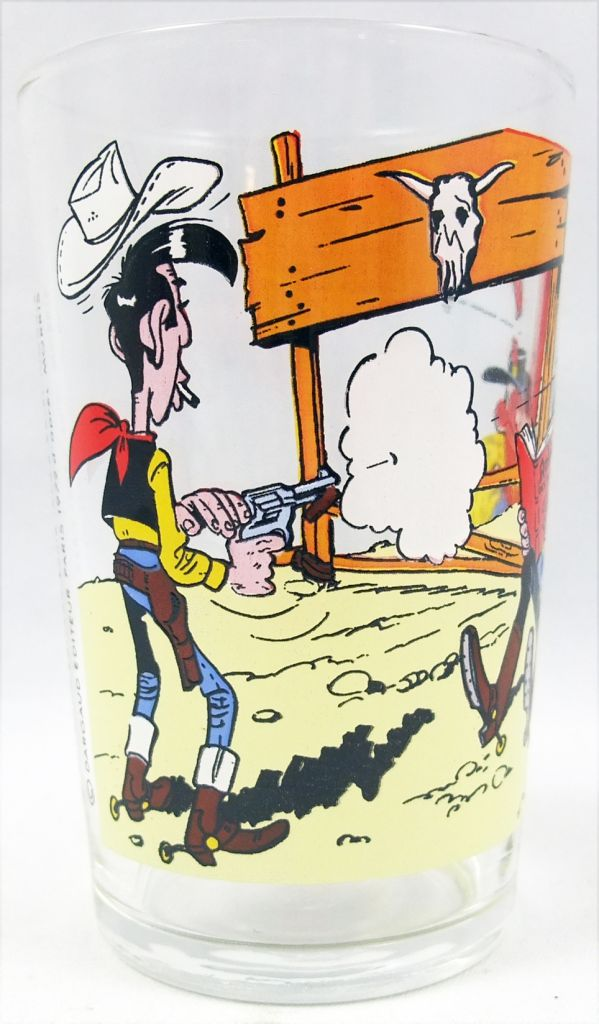 Lucky Luke - Verre à moutarde Amora - Lucky Luke et Jesse James
