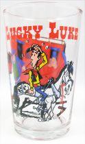 Lucky Luke - Verre à moutarde Ducros - La diligence