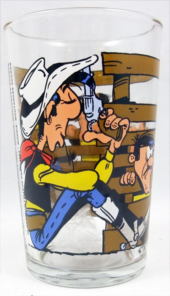 Lucky Luke - Verre à moutarde Ducros - Les Daltons coincés dans la barrière