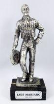 "Luis Mariano - 6\"" die-cast métal statue - Daviland France 1978"
