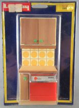 Lundby of Sweden # 2531 - Continental Kitchen (yellow) Dishwasher Unit Dolls House Furniture Mint on Card