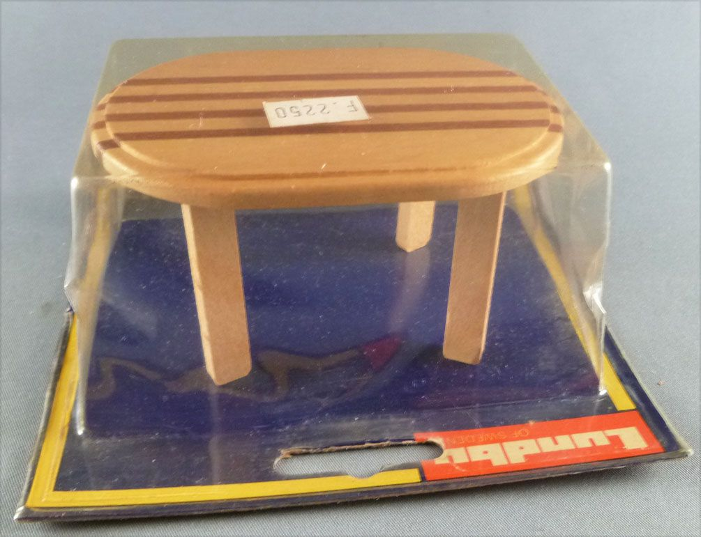Lundby of Sweden # 4370 - Dining Room Wooden Table Dolls House Furniture Mint on Cerd