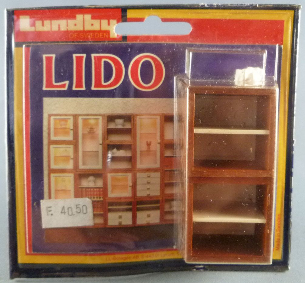 0920e9aae781 Lundby of Sweden # 5351 - 2 Wooden Library Unit Lido Series Dolls House  Furniture Mint. Loading zoom