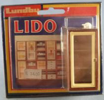 Lundby of Sweden # 5354 - Wooden Lightning Show Case Lido Series Dolls House Furniture Mint on Cerd