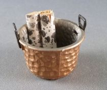 Lundby of Sweden # 5774 - Bucket \'Hammered Copper\' with Logs for Chimney & accessories Dolls House Furniture