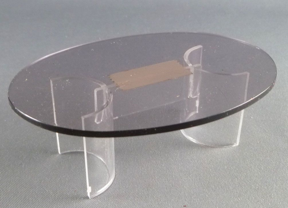 Lundby Of Sweden Clear Plastic Design Coffee Table Dolls