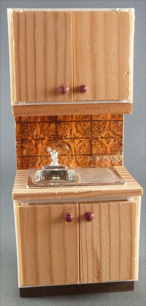 Charmant Lundby Of Sweden   Meuble Evier Cuisine Pin Carreaux Orange Maison De  Poupées. Loading Zoom