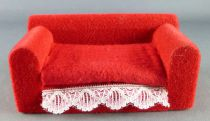 Lundby of Sweden - Velour  Red Sofa Dolls House Furniture