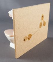 Lundby of Sweden - WC & Sinkk (white) Wall Cream Color Ceramic Dolls House Furniture