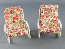 Lundby of Sweden- 2 x Garden Armchairs Dolls House Furniture