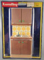 Lundby of Sweden Réf 2541 - Cuisine Continentale Jaune Evier Meuble & Placard Maison de Poupées Neuf Blister