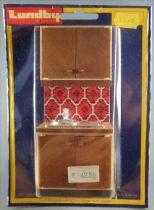 Lundby of Sweden Réf 2542 - Evier Cuisine avec Meubles et Placard Carreaux Rouge Maison de Poupées Neuf Blister