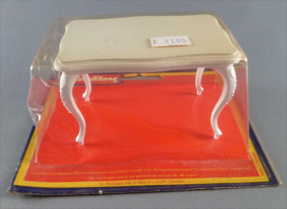 Lundby of Sweden Réf 4200 - Table Blanche Salle à Manger Maison de Poupées Neuf Blister