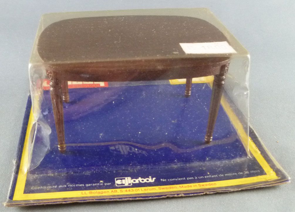 Lundby of Sweden Réf 4350 - Table Salle à Manger Chêne Foncé Maison de Poupées Neuf Blister