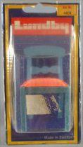Lundby of Sweden Réf 4404 - 1 Chaise Bleue Rustique Tissus Orange Salle Manger Leksand Maison de Poupées Neuf Blister