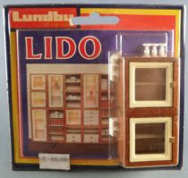 Lundby of Sweden Réf 5353 - 2 Bloc Vitrines Eclairée Meuble Modulaire Lido Maison de Poupées Neuf Blister