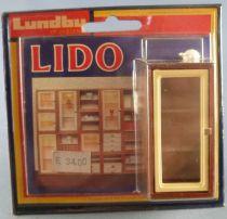 Lundby of Sweden Réf 5354 - Vitrine 3 étages Eclairée Meuble Modulaire Lido Maison de Poupées Neuf Blister