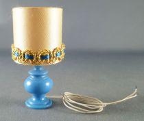 Lundby of Sweden Réf 6169 - Lampe de Table Romantique Bleu avec Ampoule Maison de Poupées