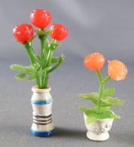 Lundby of Sweden Réf 6605 - 2 Vases avec Fleurs Maison de Poupées
